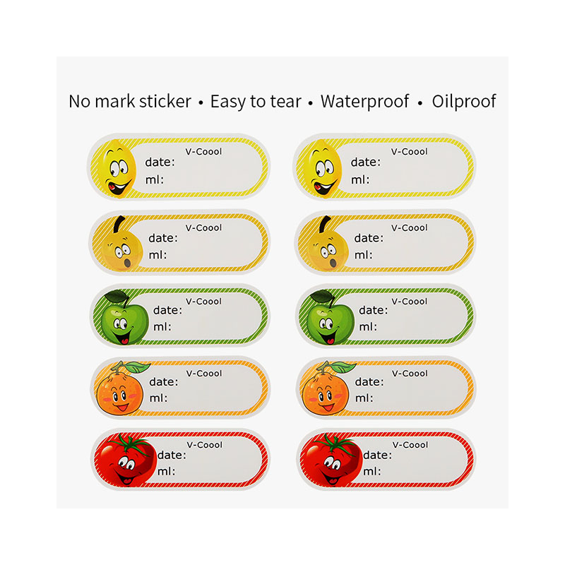 Removable water date stickers,fruit design,box pack