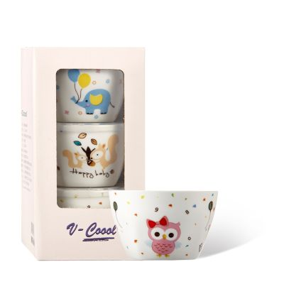 Ceramic baby food cup set of 3pcs
